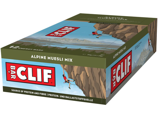 CLIF Bar Caja Barritas Energéticas 12x68g, Alpine Cereal Mix